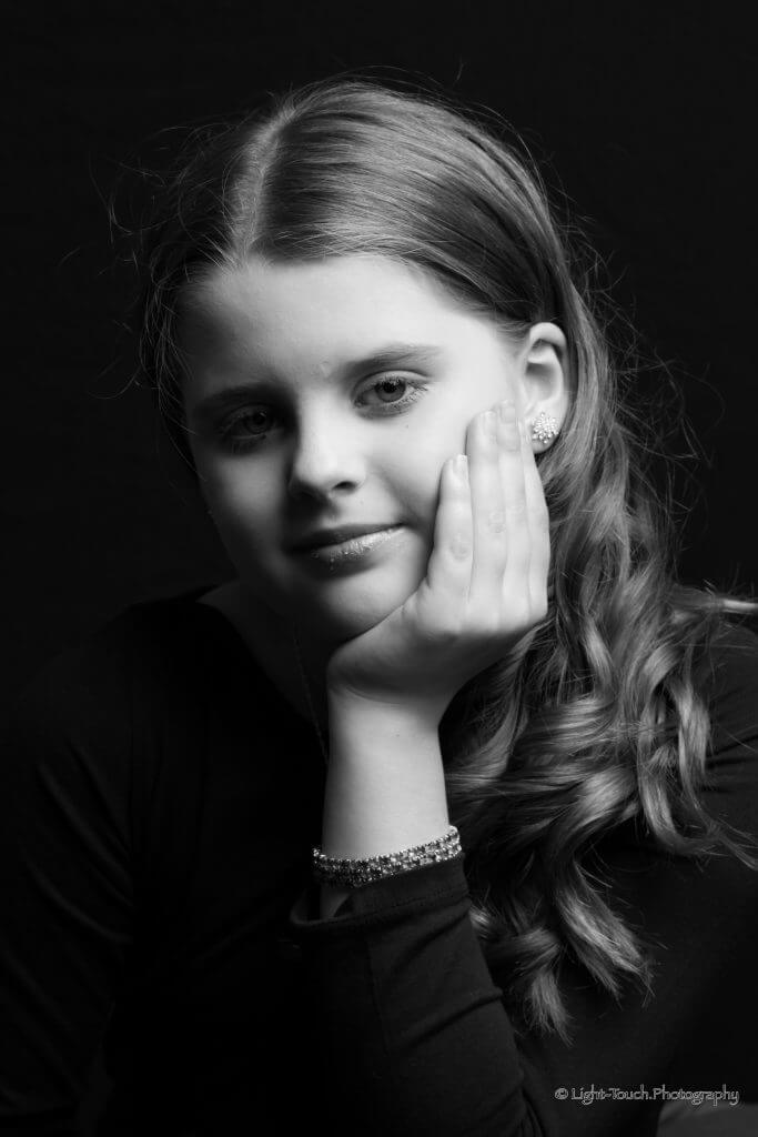 Child Photo Noir Portrait